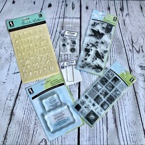 🆕NWT Stamp set bundle with clear blocks